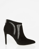 Le Château Mesh & Suede-Like Pointy Toe Ankle Boot