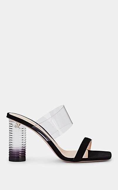 Nicholas Kirkwood Women's Peggy Suede & PVC Mules - Black