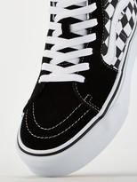 Vans UA Sk8-Hi Checkerboard Platform - Black