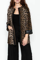 Jade Trim Leopard Jacket