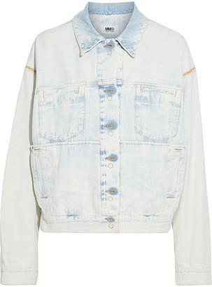MM6 MAISON MARGIELA Oversized Reversible Bleached Denim Jacket