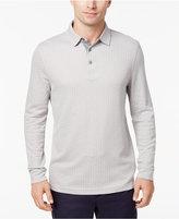 Tasso Elba Men's Geometric Long-Sleeve Polo, Created for Macy's