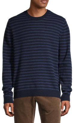 Vince Shadow Stripe Wool Crewneck Sweater