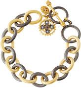 Freida Rothman Charm Chain-Link Bracelet