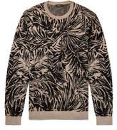 Theory Jacquard-Knit Silk-Blend Sweater