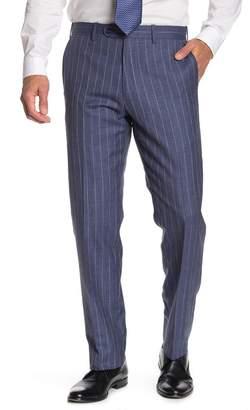 JB Britches Blue Stripe Flat Front Regular Fit Suit Separates Pants