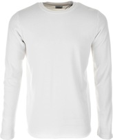 Edwin Long Sleeve Terry T Shirt Cream