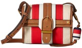 Tory Burch Canvas Suede Crossbody Cross Body Handbags