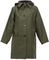 Kassl Editions - Hooded Single-breasted Raincoat - Womens - Green