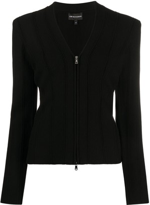 Emporio Armani Fitted Zipped Jacket