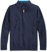 Calvin Klein Little Boys' Scalar Solid Half-Zip Sweater
