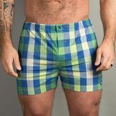 Blade + Blue Green, Blue & White Plaid Boxer Short - Nelson