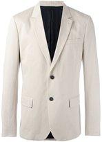 Ami Alexandre Mattiussi lined 2 button jacket - men - Cotton/Linen/Flax/Acetate - 50