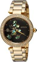 Invicta Women's Disney Gold-Tone Steel Bracelet & Case Quartz Dial Analog Watch 23789