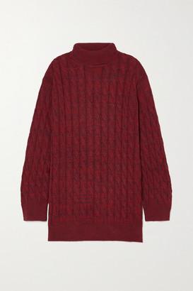 ANNA QUAN Dante Cable-knit Cotton Sweater - Burgundy