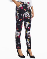 White House Black Market Floral Printed Relaxed Ankle Pants