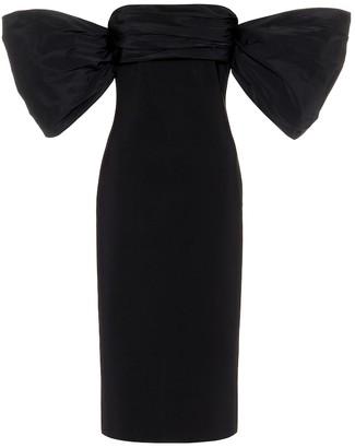 Givenchy Taffeta-trimmed knit midi dress