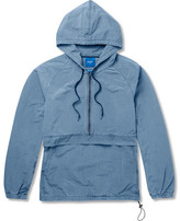 Beams Cotton-blend Hooded Anorak - Blue