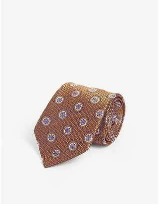 Canali Hexagonal pattern silk tie