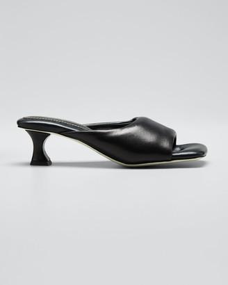 Proenza Schouler Kitten-Heel Leather Mule Sandals
