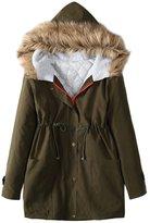 Shinekoo Women's Warm Winter Long Jacket Fur Overcoat Outwear Hooded Parka