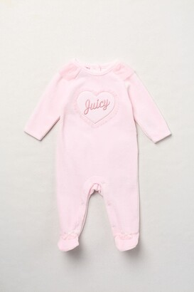 Juicy Couture Velour Footed Coverall