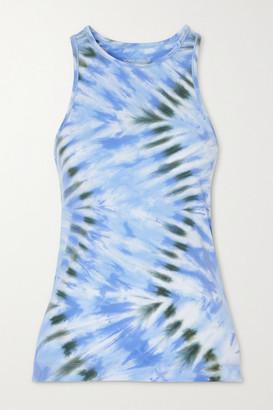 Tory Sport Tie-dyed Stretch Tank - Blue