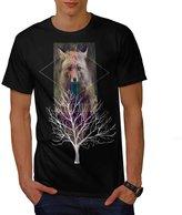 Fox Wild Hipster Foxy Forest Men NEW XXXL T-shirt | Wellcoda