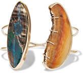 Melissa Joy Manning 14-karat Gold, Sterling Silver, Agate And Azurite Cuff
