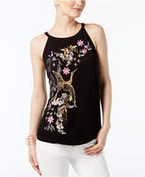 INC International Concepts Embroidered Embellished Top, Created for Macy's