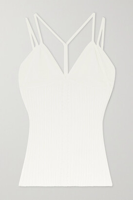 Dion Lee Layered Ribbed-knit Camisole - Ivory