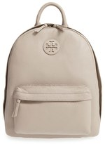 Tory Burch Pebbled Leather Backpack - Grey