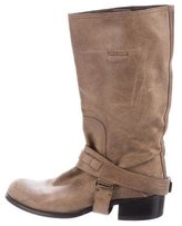 Christian Dior Suede Mid-Calf Boots