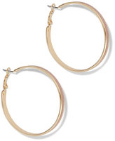 New York & Co. Rose Goldtone Hoop Earring