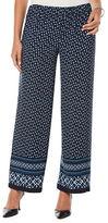 Rafaella Petites Wide-Legged Printed Pants