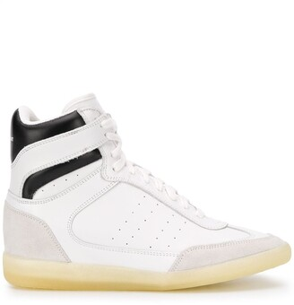Isabel Marant Striped High-Top Sneakers