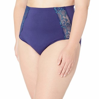 Ahh By Rhonda Shear Women's Seamless Panty with lace Inset Detail
