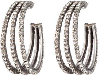 Dannijo Lani Crystal Hoop Earrings