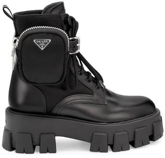 Prada Lug-Sole Combat Boots