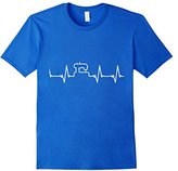 Men's Sewing Heartbeat Tshirt Sewer Quilter Quilting Stitching 3XL