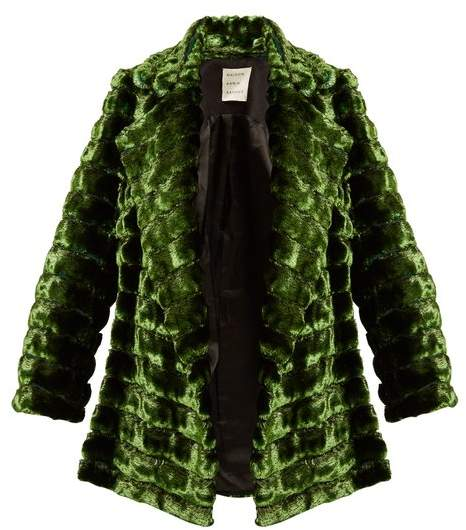Maison Rabih Kayrouz Grizzly quilted faux-fur coat