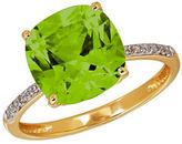 Lord & Taylor 0.07TCW Diamonds, Peridot and 14K Yellow Gold Ring