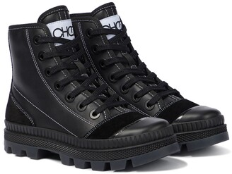 Jimmy Choo Nord/F leather sneakers