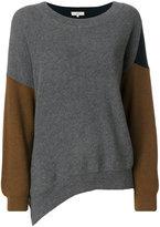 Vanessa Bruno asymmetric colour-block jumper - women - Wool/Cotton - S