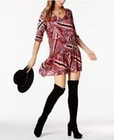 BB Dakota Kelly Printed Drop-Waist Dress