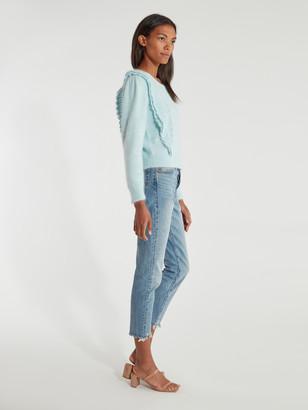 LoveShackFancy Jasmine Bib Knit Pullover