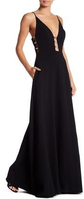 ABS by Allen Schwartz Crepe Woven Gown