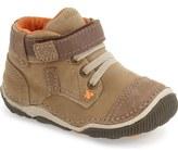 Stride Rite 'Garrett' High Top Bootie Sneaker (Baby, Walker & Toddler)