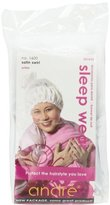 Andre Sleep Wear 1600 Satin Swirl, White, One Size Fits All