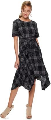 Elle Women's Tie Handkerchief Dress